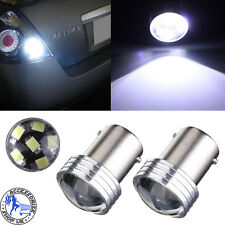 2 1156 BA15S P21W 6 LED 2835 COB SMD Car Reverse Back Turn Tail Light Bulb White
