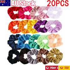 20 Pcs Velvet Hair Scrunchies Elastic Scrunchy Bobbles Girls Women Bands Ties AU