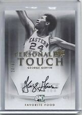 GEORGE GERVIN 2011-12 UD EXQUISITE PERSONAL TOUCH FAVORITE FOOD ON CARD AUTO /30
