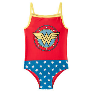 DC Comics Swim Suit Costume Girls Wonder Woman Supergirl Batman OFFICIAL Gift