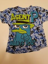 Agent P Phineas and Ferb Blue Shirt