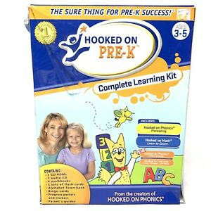 Hooked on Phonics Pre-K Complete Learning Kit Ages 3-5 New Never Used Read Info