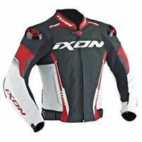 20% de Réduction Ixon Vortex 2 Cuir Rouge/Blanc Sport Veste Moto Certifié Ce