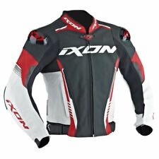 20% OFF IXON VORTEX 2 Leather Red/White Sport Motorbike Jacket CE Certified