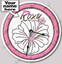 Hibiscus Flower Personalized Customized Nursery Wall Art Clock Decor - _FT