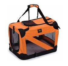 Pet Life Orange Vista View Collapsible Carrier(small)