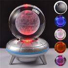 Star Wars Death Star 3D Crystal Ball Night Light LED Table Desk Lamp Gift RGB