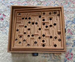 Vintage Brio Wooden Labyrinth Made in Sweden