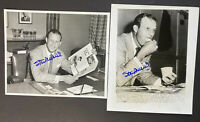 1950's Stan Musial Signed Wire Photos Lot of 2 St Louis Cardinals HOF AS WS MLB