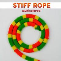 Magician's Close Up Stiff Rope Multicolored Unstiff Coil Uncoil Rope Magic Trick