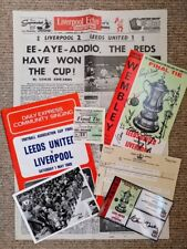 Hand Signed FA Cup Final 1965 - Liverpool FC v Leeds Utd Bundle
