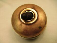 Vintage Made British Electric Switches Light Brass & Ceramic Porcelain Button #9