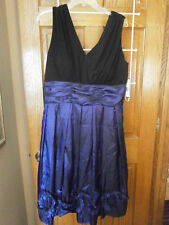 NWT Womens Size 16 Special Occasion Dress $128 Eggplant Black Cocktail Purple