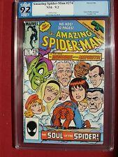 The Amazing Spider-Man 274 PGX 9.2 Not CGC