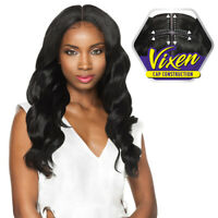 Outre Synthetic HairPre Plucked Lace Front Wig 4wayPart Swiss X Vixen Loose Wave