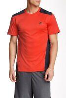 Adidas Originals Red Men's Climacool Short Sleeve Tee 141999 Sz L $32