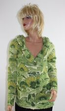Anthropologie Leifsdottir Green Floral Wool Blend Cardigan Sweater - Size Medium