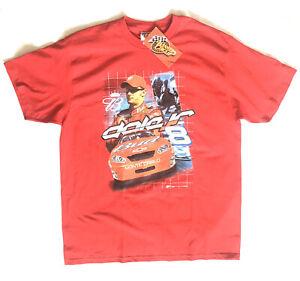 2005 Dale Earnhardt Jr Winners Circle Budweiser NASCAR Graphic T-Shirt Red XL