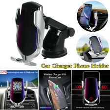 Qi Wireless Car Charging Charger Phone Holder Auto Clamp GPS Anti-theft Locator