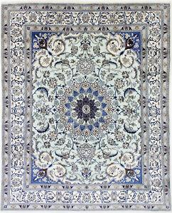 Beautiful Oriental Rug 244x196 Nain Persian Carpet with Silk Fine
