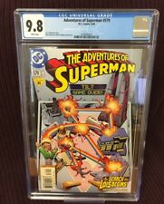 D.C. Adventures of Superman #579 CGC NM+/MNT 9.8 1st Appearance of the Adversary