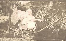 RPPC,Baby in a Wicker Baby Carriage,c.1910