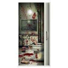 """5' Creepy Crapper 30""""x 60"""" door Panel CSI Crime Scene Halloween Party sign"""