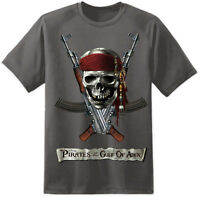PIRATES OF THE CARIBBEAN FUNNY STAG DO NAVY JOHNNY DEPP ARMY T SHIRT (S- 3XL )