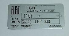 Clásico Fiat 500 L Placa De Chasis-calidad más alta