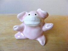 Little Guys Hero Pig With Mask Miniature Animal Figurine Cindy Pacileo Pottery