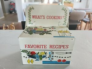 Recipe Tin Box Vintage Whats Cooking Made In Japan.