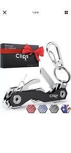 Clips Smart Compact Key Organizer Holder Keychain - Made of Carbon Fiber  Stain