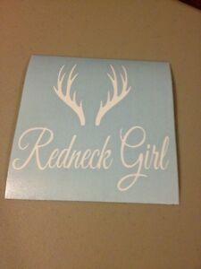 Redneck Girl Vinyl Die Cut Decal,window,car,truck,laptop,deer,funny,country,wall