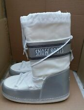 Ladies Bevaform Snow Boots - Moon Boot Style Footwear - White - UK 6.5-7.5