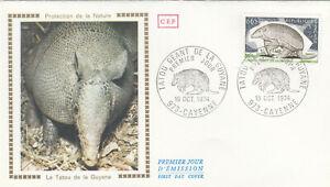 (86587) France FDC Armadillo Tatou Cayenne 1974