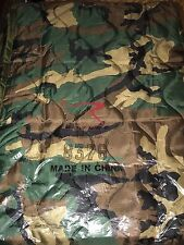 ROTHCO RAIN PONCHO LINER WOODLAND CAMO 8376 FACTORY SEALED PACKAGE NEW MILITARY