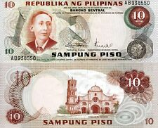 PHILIPPINES 10 Piso Banknote World Paper Money UNC Currency Pick p149a BILL Note