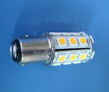 10x BAY15D 1157 Warm White Marine lights,boat bulb 24-5050 SMD LED AC/DC 12~24V
