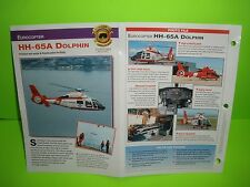 EUROCOPTER HH-65A DOLPHIN HELICOPER CHOPPER FACTS CARD AIRPLANE BOOK