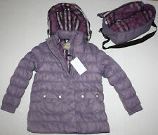 NWT Girls BURBERRY Lavender Coat Size 12Y + Extra Bag