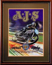 AJS Isle of Man TT classic motorcycle motorbike poster