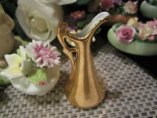 Antique 24Kt.Gold Plated Water Pitcher Miniature Figure~VICTORIA Czechoslovakia
