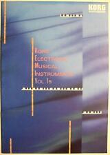 KORG ELECTRONIC MUSICAL INSTRUMENTS VOL. 15 - KATALOG VON 1990