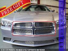 GTG 2011 - 2014 Dodge Charger 4PC Polished Overlay Billet Grille Grill Kit