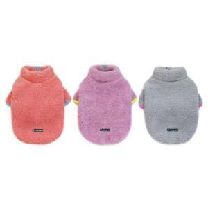 Pet Dog Zipper Sweatshirt Classical Fleece Coat Warm Dog Vest Cold Weater S-XXL