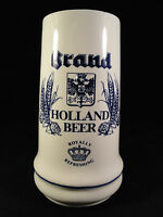 Royal Holland Beer Brand Brewery Blue White Beer Stein Mug Tankard Hand Painted