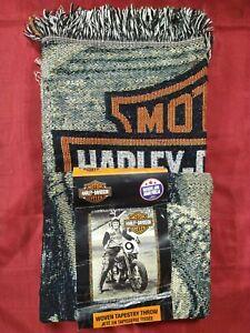 Harley-Davidson Race Time Tapestry Throw Blanket, 48 x 60 inch  Harley Davidson