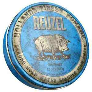 Reuzel Blue Strong Hold High Sheen Pomade Water Soluble High 340g