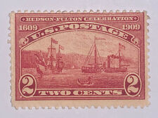 Travelstamps: 1909 US Stamps Scott  #372 , S.S. Clermont, 2 cents, mint, MOGH
