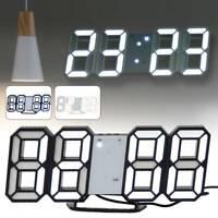 3D numérique LED nuit horloge murale alarme montre affichage température mode LB